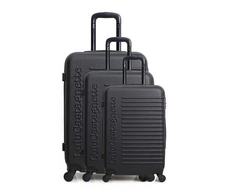 Σετ 3 βαλίτσες τρόλεϊ Lulu Classic Black
