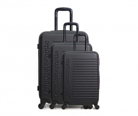 Sada 3 kolieskových kufrov Lulu Classic Black