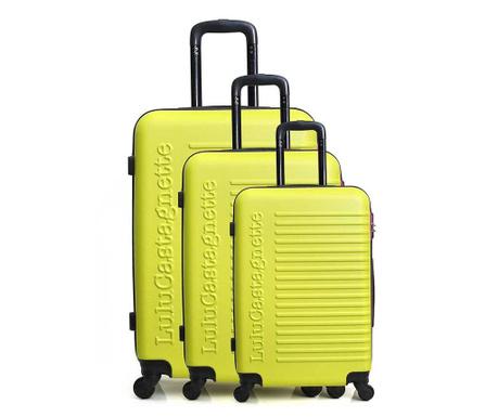 Sada 3 kolieskových kufrov Lulu Classic Yellow