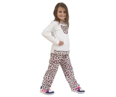Set dječja bluza i hlače Frilly Leopard