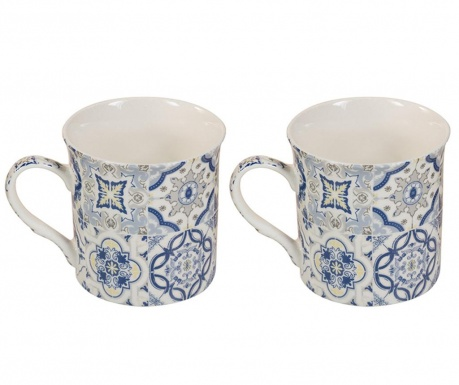 Set 2 šalice Motifs Blue