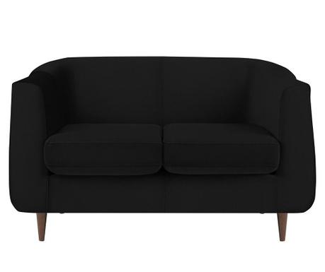Canapea 2 locuri Glam Black