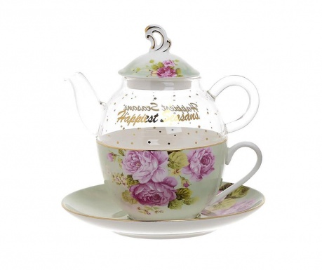 Комплект чайник с чашка и чинийка Inspiration