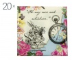 Set 20 serviet Truly Alice Whimsical