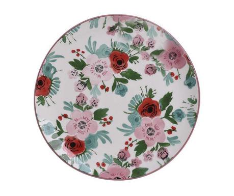 Mělký talíř Les Fleurs