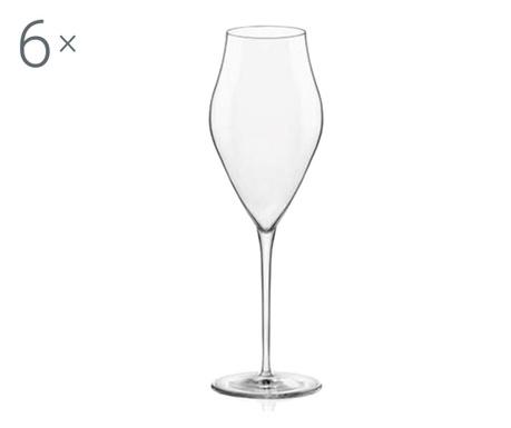 Sada 6 sklenic na šampaňské Inalto Arte 570 ml