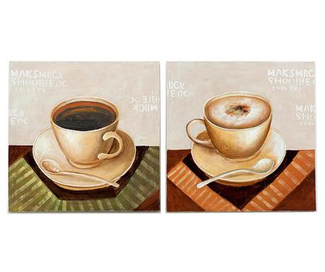 Set 2 tablouri Edmonton Coffee 60x60 cm