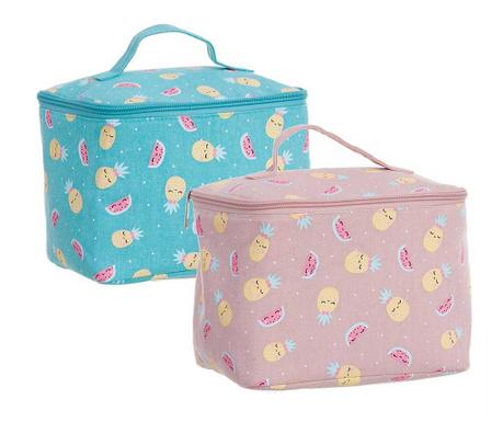 Sada 2 kosmetických tašek Pineapple Kawaii