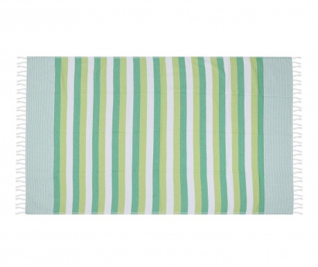 Plážová osuška Pamukkale Green 100x180 cm
