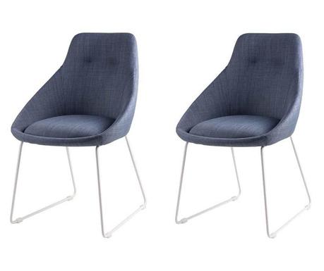 Комплект 2 стола Alba Light Blue