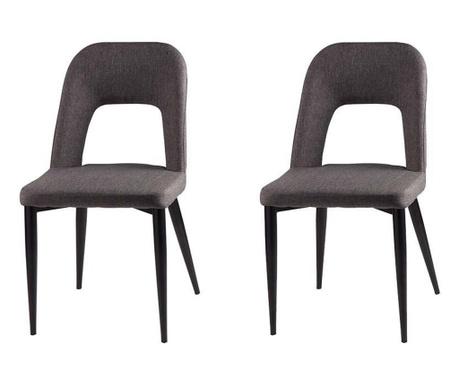 Комплект 2 стола Anika Dark Grey