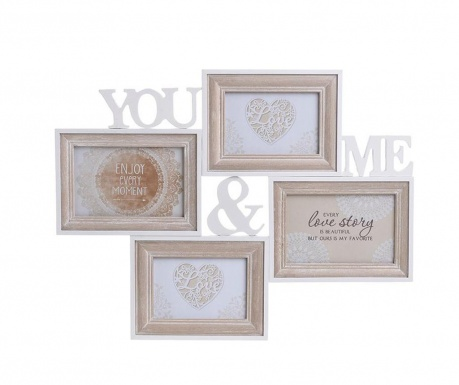 Rám na 4 fotografie You & Me