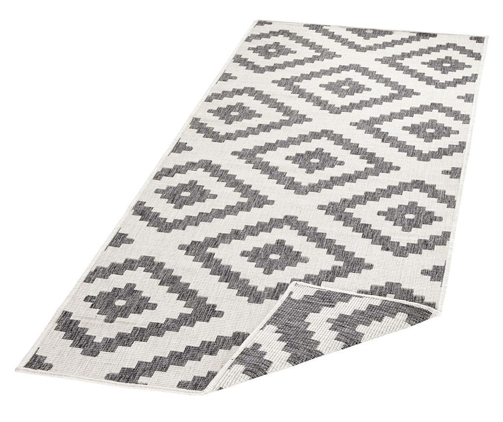 Twin Malta Grey Cream Kültéri szőnyeg 80x250 cm