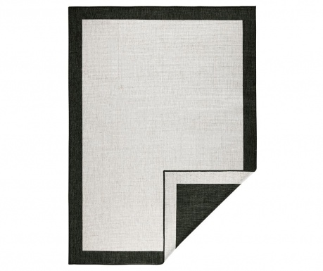 Venkovní koberec Twin Panama Black Cream