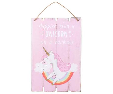 Stenska dekoracija Happy Unicorn