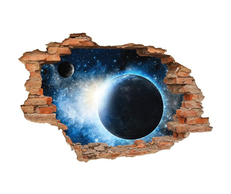 Naljepnica 3D Terre et Lune