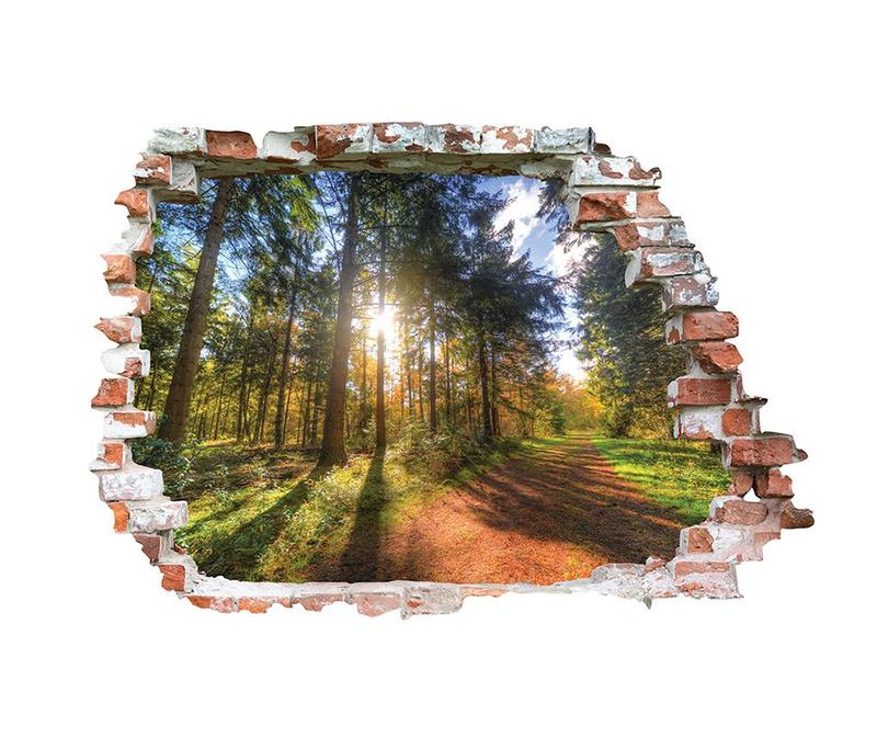 Naljepnica 3D Chemin Forestier