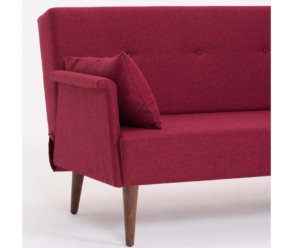 Rozkładana kanapa 3-osobowa Navan Claret Red