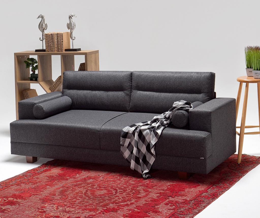 Set kauč trosjed i tabure za noge Oslo Grey