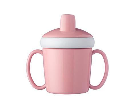 Otroška skodelica s pokrovom Nordic Pink 200 ml