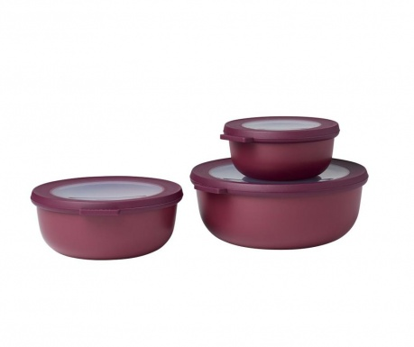 Set 3 caserole Daian Red