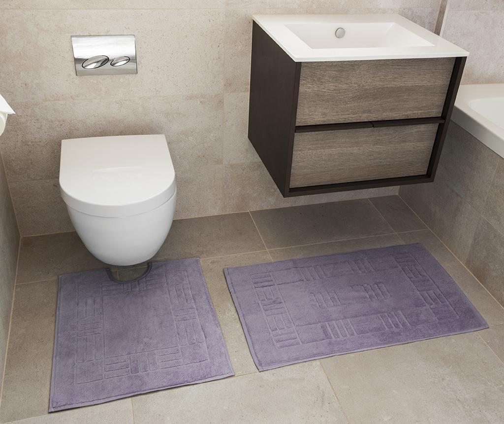 Set - brisača za na tla in kopalniška preproga Reversible Verica Heather
