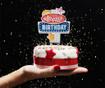 Decoratiune luminoasa pentru tort Happy Birthday