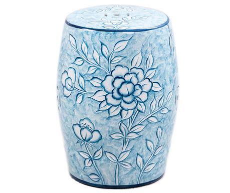 Taburet decorativ Ceramic Flowers