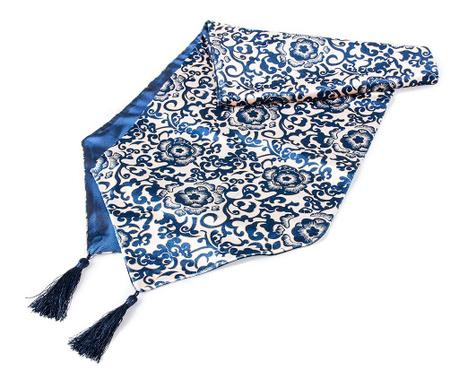 Středový ubrus Blue Rose 33x125 cm