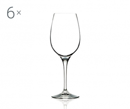 Set 6 kozarcev za belo vino Invino 380 ml