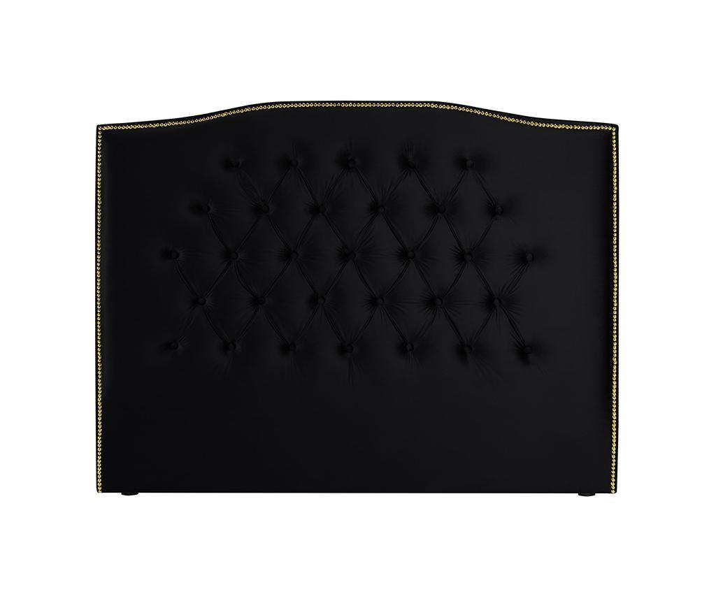 Tablie de pat Daisy Deep Black 200 cm
