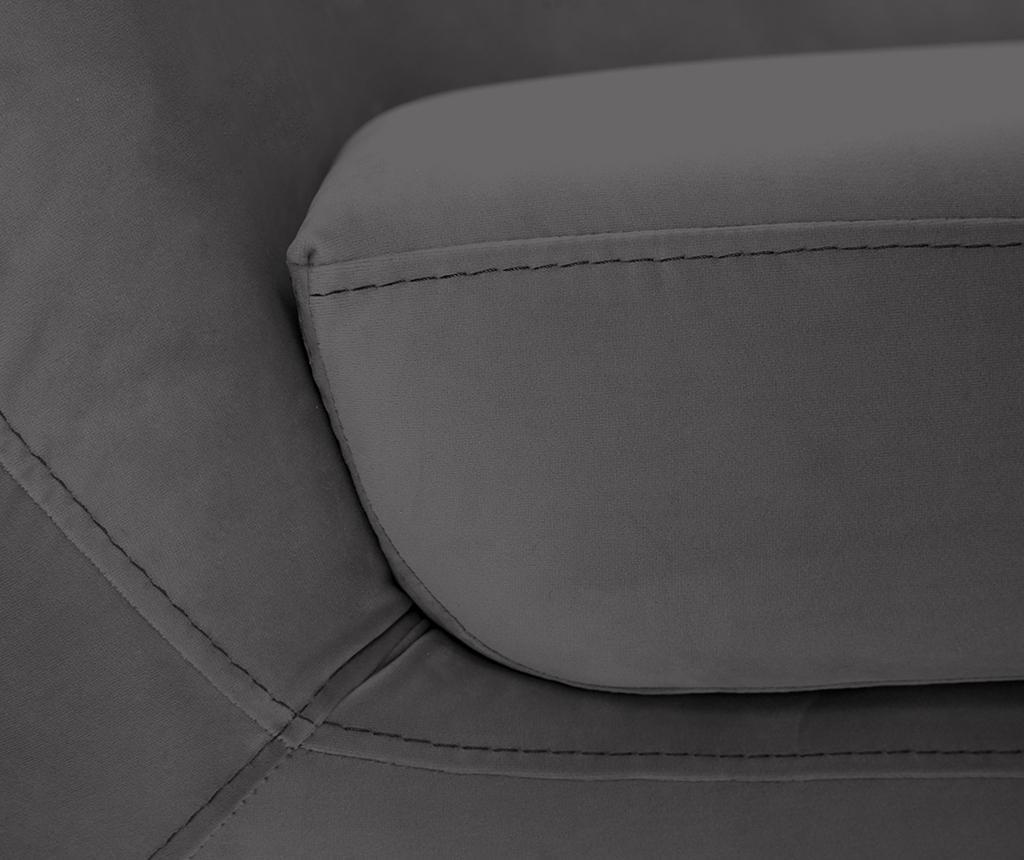 Amelie Dark Grey Black Kétszemélyes kanapé