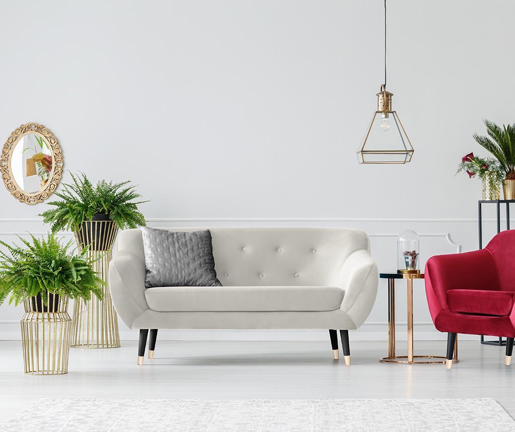 Amelie Cream Black Kétszemélyes kanapé