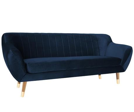 Canapea 3 locuri Benito Dark Blue Natural
