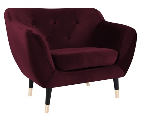 Amelie Dark Red Black Fotel
