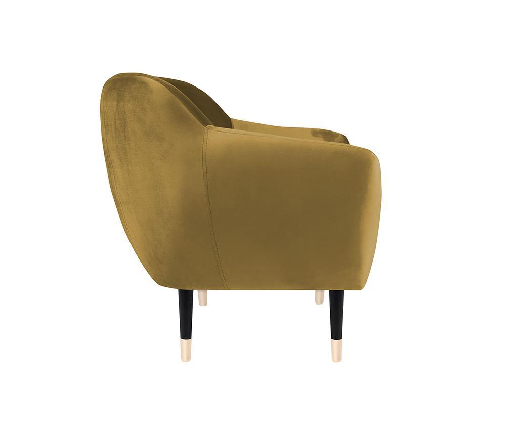 Fotelj Amelie Gold Black