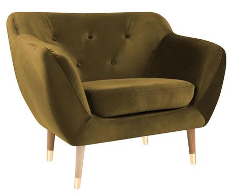 Amelie Gold Natural Fotel