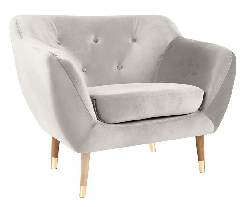 Amelie Cream Natural Fotel