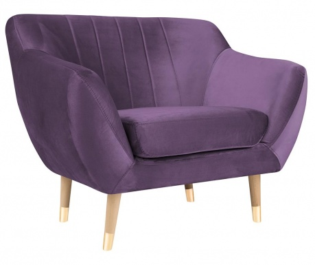 Fotel Benito Violet Natural