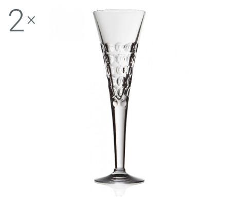 Sada 2 pohárov na šampanské Bubble 200 ml