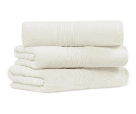 Set 2 kupaonska ručnika Providence Ivory