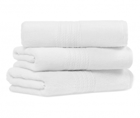 Set 2 kupaonska ručnika Providence White