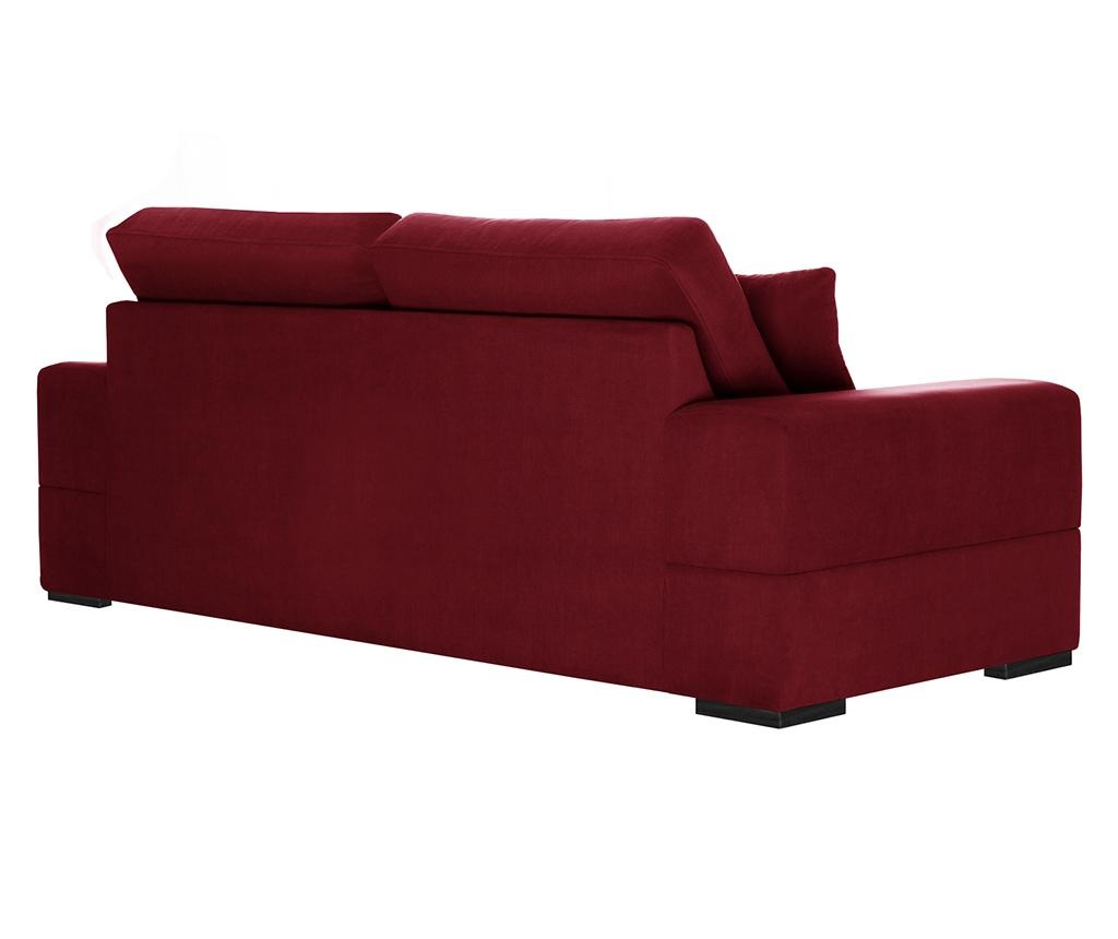 Dasha Glamour Red Háromszemélyes kihúzható kanapé