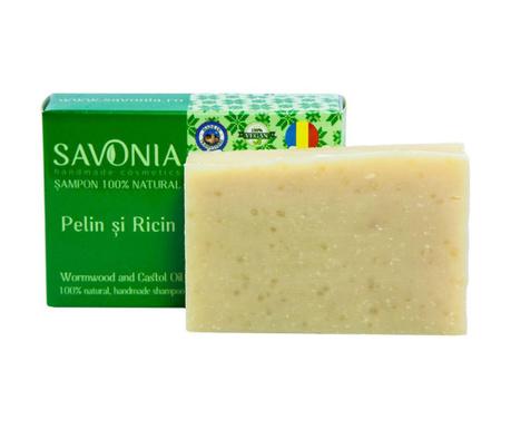 Natural Savonia Szilárd sampon ürömmel  és ricinussal 90 g