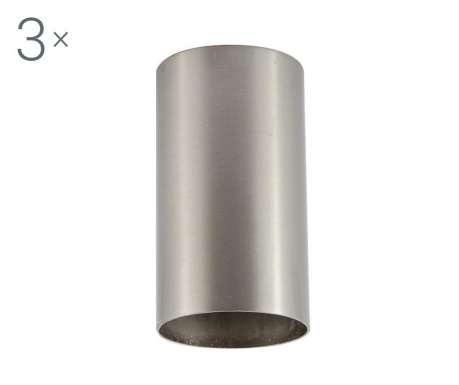 Zestaw 3 lamp sufitowych Briska Brushed