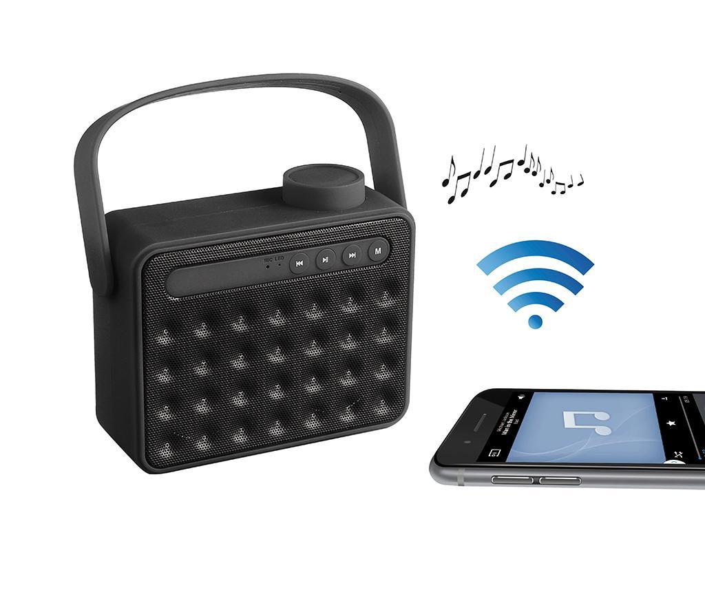 Retro Black Hordozható hangszóró Bluetooth-tal