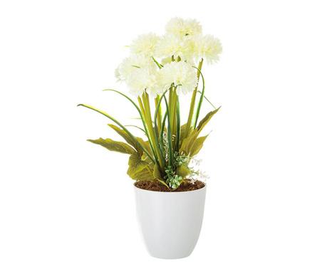 Umelá rastlina v kvetináči Crysanthenum  White
