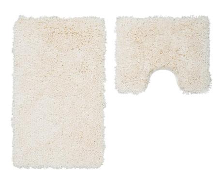 Zestaw 2 dywaników łazienkowych My Cosmopolitan Ivory