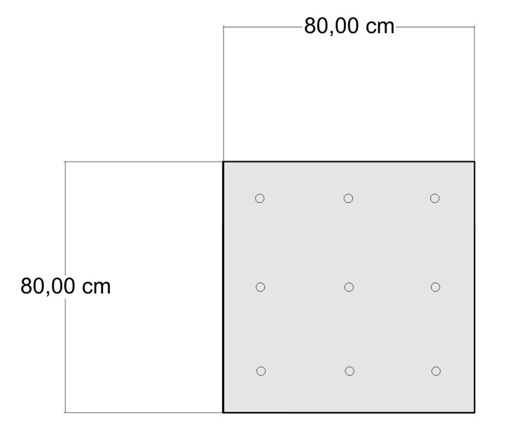 Perna de podea Yantra Grey 80x80 cm