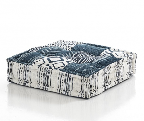 Podni jastuk Yantra White Blue Small 50x50 cm